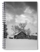 A Winter Eve Monochrome Spiral Notebook