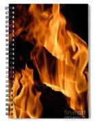 A Winter Fire Spiral Notebook