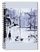 A Winter Reunion Spiral Notebook
