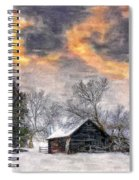 A Winter Sky Paint Version Spiral Notebook