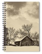 A Winter Sky Sepia Spiral Notebook