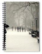 A Winter Stroll Spiral Notebook