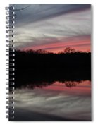 A Christmas Winter Sunset Spiral Notebook