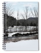 A Wintery Day In Vermont Spiral Notebook