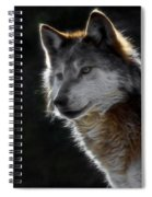 A Wolf 2 Digital Art  Spiral Notebook