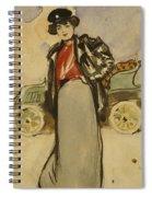 A Woman Driver Spiral Notebook