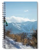 A Woman Fat Biking On The Trails Spiral Notebook
