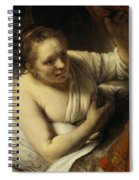 A Woman In Bed Spiral Notebook