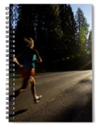 A Woman Running On A Country Road Spiral Notebook