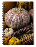 A Wonderful Autumn Harvest Spiral Notebook