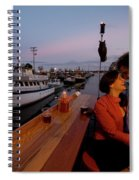 A Young Couple Embraces On The Deck Spiral Notebook