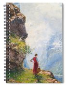A Young Girl By A Fjord Spiral Notebook