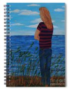 A Young Girl Dreaming Spiral Notebook