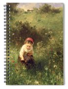 A Young Girl In A Field Spiral Notebook