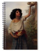 A Young Gypsy Woman With Tambourine  Spiral Notebook