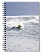 A Young Man Falls While Skiing Spiral Notebook
