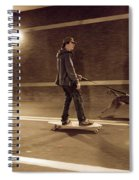 A Young Man On A Skateboard Is Pulled Spiral Notebook