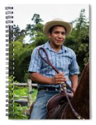 A Young Man Sits On A Horse And Smiles Spiral Notebook