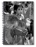 A Young Warrior - B W Spiral Notebook