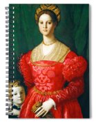 A Young Woman And Her Little Boy Spiral Notebook