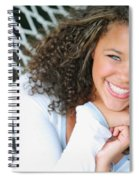 A Young Woman On A Hammock Spiral Notebook