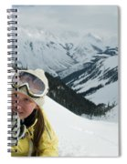 A Young Woman Radios Spiral Notebook