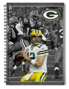 Aaron Rodgers Packers Spiral Notebook