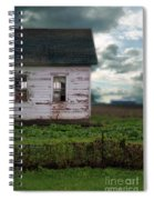 Abandoned Building In A Storm Spiral Notebook