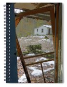 Abandoned Cabin Elkmont Smoky Mountains - Screened Door Old House Spiral Notebook