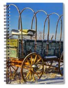 Abandoned Covered Wagon Spiral Notebook