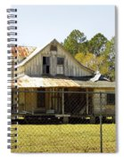 Old Abandoned Cracker Home Spiral Notebook
