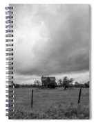 Abandoned Farmhouse Black And White Spiral Notebook
