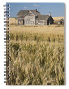 Abandoned Farmhouse In Wheat Field Spiral Notebook