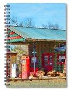 Abandoned Gas Station Spiral Notebook