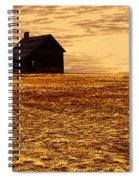 Abandoned Homestead Series Golden Sunset Spiral Notebook
