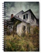 Abandoned Hotel Hdr Spiral Notebook
