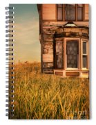 Abandoned House In Grass Spiral Notebook