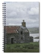 Abandoned House On Lake Side Spiral Notebook