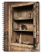 Abandoned Kitchen Cabinet B Spiral Notebook