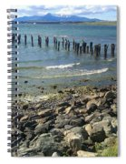 Abandoned Old Pier In Puerto Natales Chile Spiral Notebook
