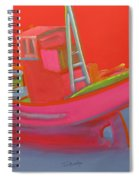 Abandoned Red Fishing Trawler Spiral Notebook