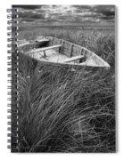 Abandoned Row Boat Along The Shoreline On Prince Edward Island Spiral Notebook