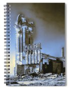 Abandoned Slaughterhouse In Winter Spiral Notebook