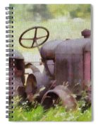 Abandoned Tractor On The Farm Spiral Notebook