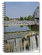Abbey Mill And Weir Spiral Notebook