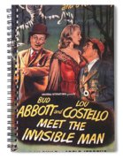 Abbott And Costello Meet The Invisible Man  Spiral Notebook