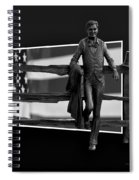 Abe Lincoln In Black And White Spiral Notebook
