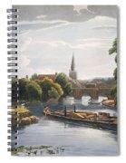 Abingdon Bridge And Church, Engraved Spiral Notebook