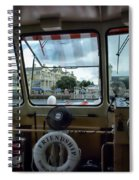 Aboard Friendship And Approaching The Boardwalk At Walt Disney World Spiral Notebook