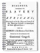 Abolitionist Tract, 1776 Spiral Notebook